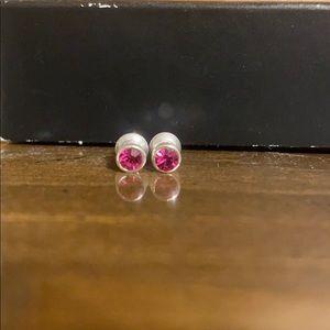 Kids Pink Stud Earrings